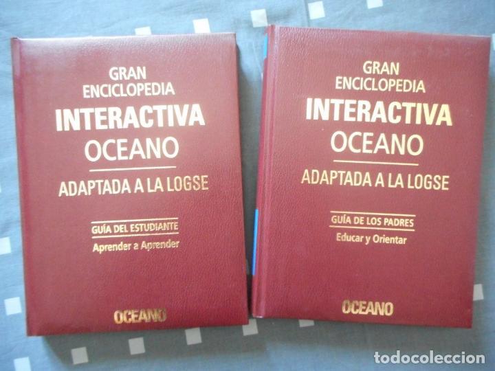 GRAN ENCICLOPEDIA INTERACTIVA OCÉANO. GUÍA I Y II Y CASSETTES. 1998. COMO NUEVA, MUY BUEN ESTADO (Libros Antiguos, Raros y Curiosos - Enciclopedias)