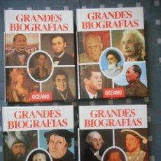 Enciclopedias antiguas: GRANDES BIOGRAFÍAS. OCÉANO. 4 TOMOS. 1992. MUY BUEN ESTADO, CASI NUEVAS. Lote 121458871