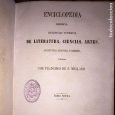 Enciclopedias antiguas: MELLADO LOTE 2 ENCICLOPEDIAS ENCICLOPEDIA MODERNA DE P.MELLADO & ESPASA-CALPE. Lote 121922206