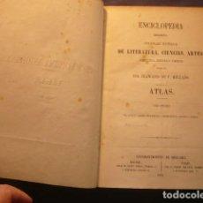 Enciclopedias antiguas: ENCICLOPEDIA MODERNA. DICCIONARIO UNIVERSAL DE LITERATURA, CIENCIAS, . (ATLAS TOMO 3) (MADRID, 1855). Lote 125213839