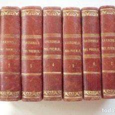 Enciclopedias antiguas: LA ESCUELA DEL PUEBLO. PÁGINAS DE ENSEÑANZA UNIVERSAL SEGUIDAS DE UNA RECOPILACIÓN DE LAS OBRAS...... Lote 126238943