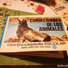 Enciclopedias antiguas: CURIOSIDADES DE LOS ANIMALE, MINI-ENCICLOPEDIA ESCOLAR, SERIE HISTORIA NATURAL Nº 23, BRUGUERA, 1972. Lote 127598487