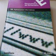 Enciclopedias antiguas: LA ENCICLOPEDIA DEL ESTUDIANTE 14 APLICACIONES INFORMATICAS. Lote 192408027