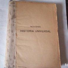 Enciclopedias antiguas: HISTORIA UNIVERSAL, NOVISIMA. AÑO ¿?. ESTADO BUENO. USADO.. Lote 128582579