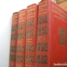 Enciclopedias antiguas: DICCIONARI ENCICLOPEDIC DE LA LLENGUA CATALANA. 4 VOL. SALVAT EDITORES 1930.. Lote 130900576