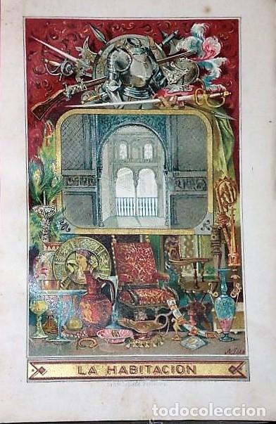 Enciclopedias antiguas: ENCICLOPEDIA PARA LA JUVENTUD.LA HABITACIÓN.-CARTAS A UNA SEÑORITA.(1ª, 2ª Y 3ª SERIES, 1879) - Foto 2 - 136239146