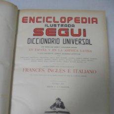 Enciclopedias antiguas: ENCICLOPEDIA ILUSTRADA SEGUI. TOMO III. DESDE C A CAZZIOL. BARCELONA. ESPAÑOLA. 25 X 33CM. VER FOTOS. Lote 140241382