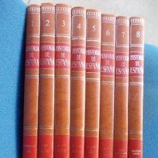 Enciclopedias antiguas: HISTORIA DE ESPAÑA PLAZA Y JANES 8 TOMOS. Lote 141875226