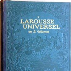 Enciclopedias antiguas: DICCIONARIO ENCICLOPEDIA LAROUSSE UNIVERSEL VOL I - FRANCES - 1922. Lote 147109902