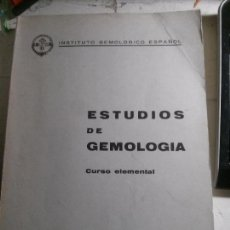 Enciclopedias antiguas: ESTUDIOS DE GEMOLOGÍA, INSTITUTO GEMOLÓGICO ESPAÑOL.. Lote 148062438