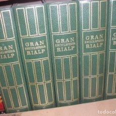 Enciclopedias antiguas: GRAN ENCICLOPEDIA RIALP. 5 TOMOS. PESA 14 KILOS. Lote 148816622