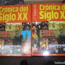 Enciclopedias antiguas: CRONICAS DEL SIGLO XX. DIARIO 16. 2 TOMOS CON TODOS LOS ACONTECIMIENTOS DE 1900-2000. Lote 148818406