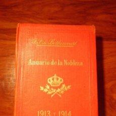 Enciclopedias antiguas: ANUARIO DE LA NOBLEZA 1913 Y 1914. Lote 148855710
