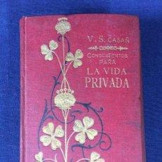 Enciclopedias antiguas: CONOCIMIENTOS PARA LA VIDA PRIVADA V S CASAÑ TOMO II 10 ª EDICIÓN EDITORIAL MAUCCI 1903. Lote 150064018