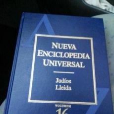 Enciclopedias antiguas: NUEVA ENCICLOPEDIA UNIVERSAL TOMO 16 , DURVAN.. Lote 151294470