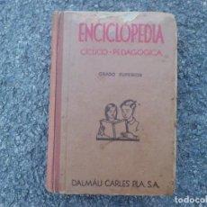 Enciclopedias antiguas: ENCICLOPEDIA DE DALMAU CARLES PLA, AÑO 1.935. Lote 151543818