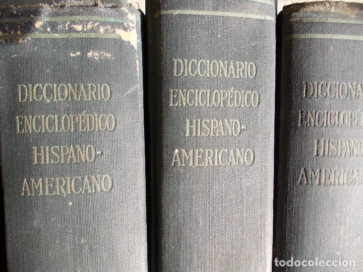 Enciclopedias antiguas: Diccionario Hispano Americano nº 1-4-11-5-16-25-8-27-9-20-23-10-3-13-21-15 lote - Foto 2 - 152284166