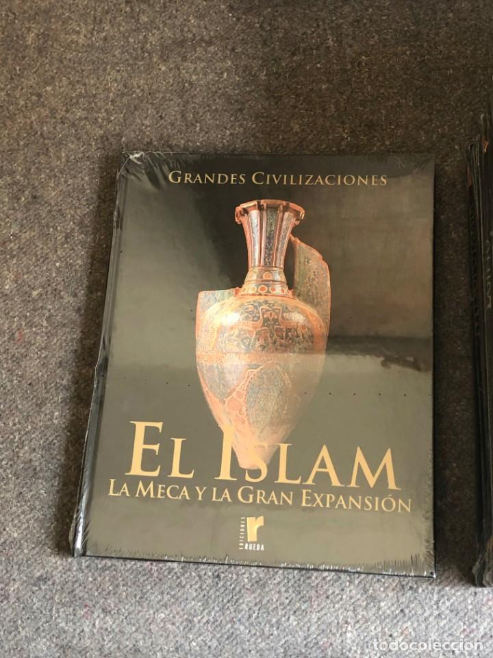 Enciclopedias antiguas: ENCICLOPEDIA GRANDES CIVILIZACIONES EDIT. RUEDA A ESTRENAR - Foto 2 - 152758150