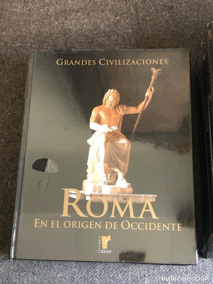 Enciclopedias antiguas: ENCICLOPEDIA GRANDES CIVILIZACIONES EDIT. RUEDA A ESTRENAR - Foto 5 - 152758150
