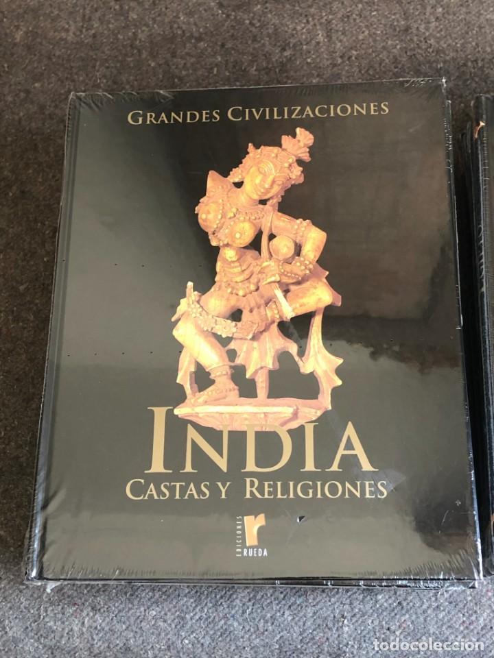 Enciclopedias antiguas: ENCICLOPEDIA GRANDES CIVILIZACIONES EDIT. RUEDA A ESTRENAR - Foto 7 - 152758150