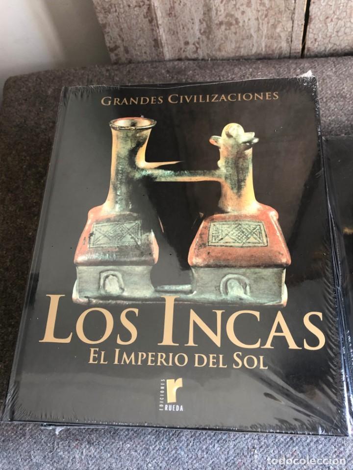 Enciclopedias antiguas: ENCICLOPEDIA GRANDES CIVILIZACIONES EDIT. RUEDA A ESTRENAR - Foto 9 - 152758150