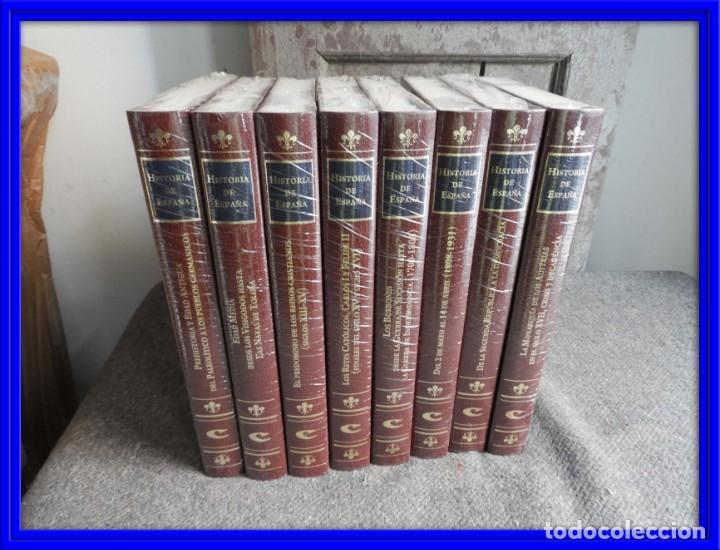 ENCICLOPEDIA HISTORIA DE ESPAÑA EN 8 VOLUMENES COMPLETA (Libros Antiguos, Raros y Curiosos - Enciclopedias)