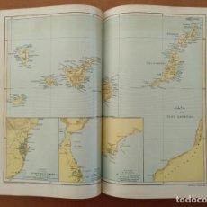 Enciclopedias antiguas: MAPA ISLAS CANARIAS, CALDERAS, CAÑONES Y CUREÑAS, CARCEL MODELO BARCELONA. TOMO IV DICCIONARIO . Lote 153669178
