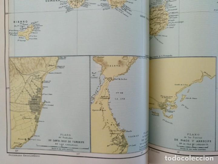 Enciclopedias antiguas: MAPA ISLAS CANARIAS, CALDERAS, CAÑONES Y CUREÑAS, CARCEL MODELO BARCELONA. TOMO IV DICCIONARIO - Foto 2 - 153669178