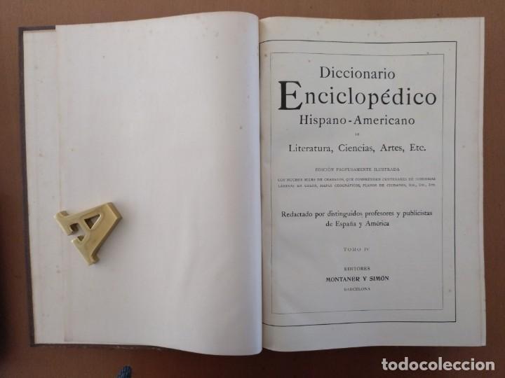 Enciclopedias antiguas: MAPA ISLAS CANARIAS, CALDERAS, CAÑONES Y CUREÑAS, CARCEL MODELO BARCELONA. TOMO IV DICCIONARIO - Foto 4 - 153669178