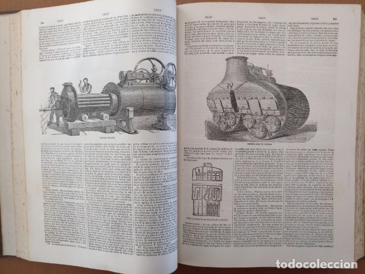 Enciclopedias antiguas: MAPA ISLAS CANARIAS, CALDERAS, CAÑONES Y CUREÑAS, CARCEL MODELO BARCELONA. TOMO IV DICCIONARIO - Foto 8 - 153669178