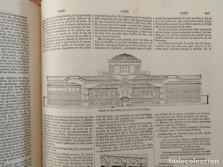 Enciclopedias antiguas: MAPA ISLAS CANARIAS, CALDERAS, CAÑONES Y CUREÑAS, CARCEL MODELO BARCELONA. TOMO IV DICCIONARIO - Foto 15 - 153669178