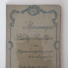 Enciclopedias antiguas: ALMANAQUE BAILLY-BAILLERE 1925. Lote 156739662