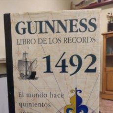 Enciclopedias antiguas: GUINNESS DE LOS RECORDS 1492. Lote 158618598