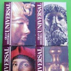 Enciclopedias antiguas: LOTE 4 TOMOS DE LA GRAN HISTORIA UNIVERSAL. Lote 158696406