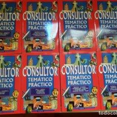 Enciclopedias antiguas: CONSULTOR TEMÁTICO PRACTICO 8 TOMOS. Lote 162370950