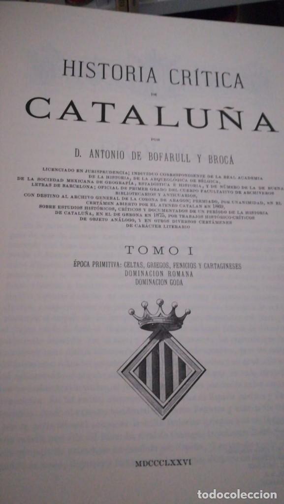 Enciclopedias antiguas: Enciclopedia, Historia crítica de Catalunya - Foto 2 - 165669750