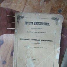 Enciclopedias antiguas: LIBRO REVISTA ENCICLOPEDIA TOMO II A LOS SUSCRIPTORES DE LA BIBLIOTECA POPULAR ECONOMICA L-19178. Lote 166941516