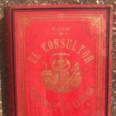 Enciclopedias antiguas: 1892 DOS LIBROS LUJO EL CONSULTOR DEL TENEDOR DE LIBROS OLIVER EDUTOR J MOLINAS BARCELONA CATALUNYA. Lote 166982248