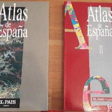 Enciclopedias antiguas: ATLAS DE ESPAÑA, EL PAIS, DOS TOMOS, 41 X 26 CTMS. Lote 167142216