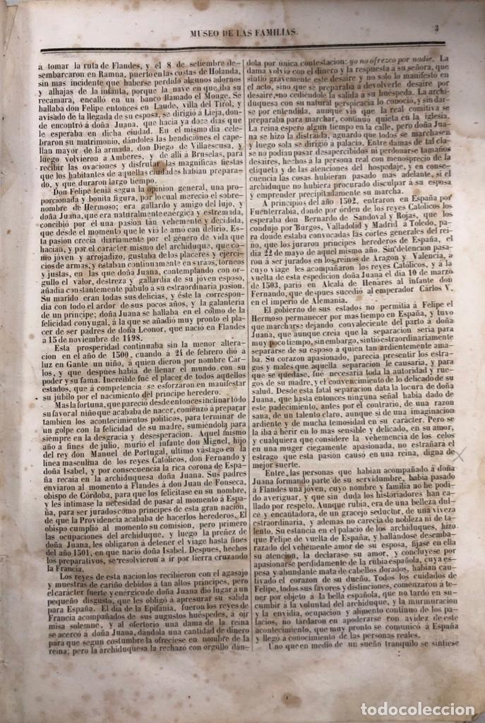 Enciclopedias antiguas: MUSEO DE LAS FAMILIAS. TOMO VI. ESTABLECIMIENTO TIPOGRAFICO DE MELLADO. MADRID, 1848. - Foto 3 - 167666000