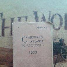Libri antichi: CALENDARIO ATLANTE DE AGOSTINI 1933. Lote 232918465