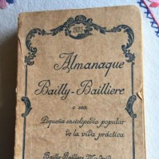 Enciclopedias antiguas: ALMANAQUE BAILLY . BAILLIERE 1935. Lote 171040199