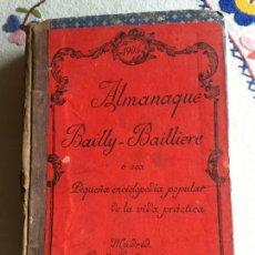 Enciclopedias antiguas: ALMANAQUE BAILLY . BAILLIERE 1904. Lote 171054435