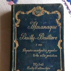 Enciclopedias antiguas: ALMANAQUE BAILLY . BAILLIERE 1905. Lote 171054484