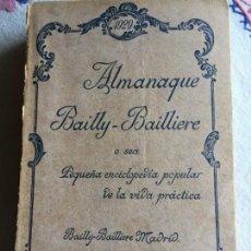 Enciclopedias antiguas: ALMANAQUE BAILLY . BAILLIERE 1929. Lote 171054528