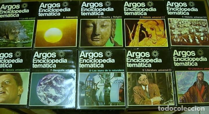 ENCICLOPEDIA TEMATICA ARGOS VERGARA 22 TOMOS 1970 COMPLETA EXCELENTE !!! (Libros Antiguos, Raros y Curiosos - Enciclopedias)