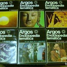 Enciclopedias antiguas: ENCICLOPEDIA TEMATICA ARGOS VERGARA 22 TOMOS 1970 COMPLETA EXCELENTE !!!. Lote 173973765