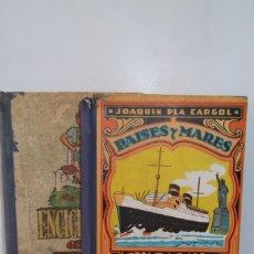 Enciclopedias antiguas: @ LOTE LIBROS @ COLECCION ESCOLAR @ ENCICLOPEDIA - PAISES Y MARES @ 1922 Y 1963 @. Lote 175028905