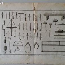 Libri antichi: ENCICLOPEDIA DE DIDEROT Y DÁLEMBERT: GRABADOS HERRAMIENTAS DE MARMOLISTA. Lote 175677324