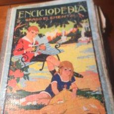 Enciclopedias antiguas: LIBRO ENCICLOPEDIA GRADO ELEMENTAL DALMAU CARLES PLA 1922. Lote 177668830